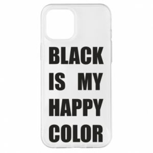Etui na iPhone 12 Pro Max Black is my happy color