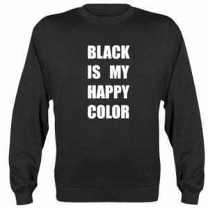 Bluza (raglan) Black is my happy color
