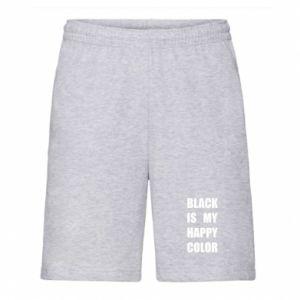 Męskie szorty Black is my happy color