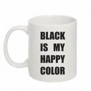 Mug 330ml Black is my happy color