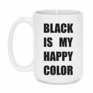 Kubek 450ml Black is my happy color