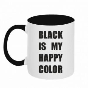 Kubek dwukolorowy Black is my happy color