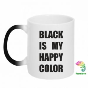 Kubek-kameleon Black is my happy color