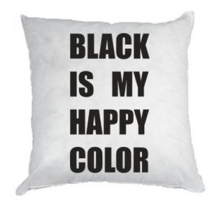 Pillow Black is my happy color