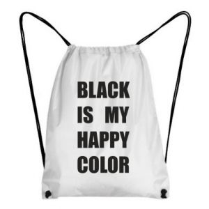 Backpack-bag Black is my happy color