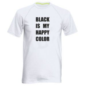 Men's sports t-shirt Black is my happy color