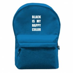 Backpack with front pocket Black is my happy color