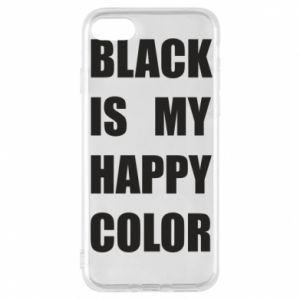 Phone case for iPhone 8 Black is my happy color