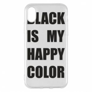 Etui na iPhone X/Xs Black is my happy color