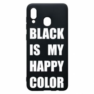Phone case for Samsung A20 Black is my happy color