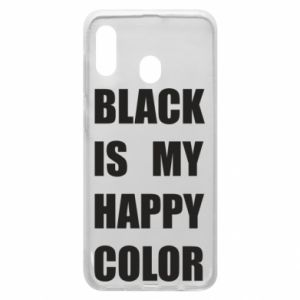 Phone case for Samsung A30 Black is my happy color