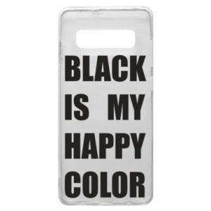 Phone case for Samsung S10+ Black is my happy color