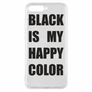 Phone case for Huawei Y6 2018 Black is my happy color