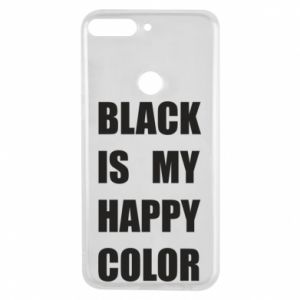 Phone case for Huawei Y7 Prime 2018 Black is my happy color