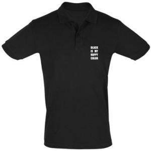 Men's Polo shirt Black is my happy color