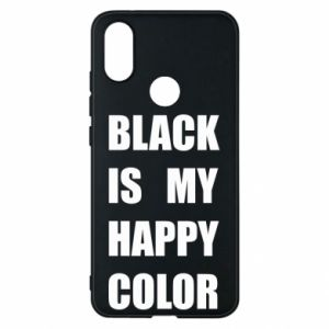 Phone case for Xiaomi Mi A2 Black is my happy color