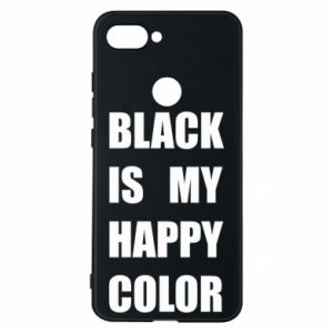 Etui na Xiaomi Mi8 Lite Black is my happy color