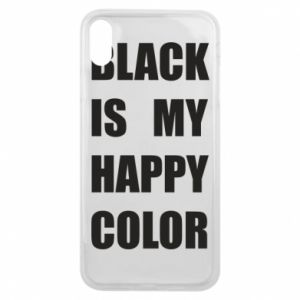 Phone case for iPhone Xs Max Black is my happy color