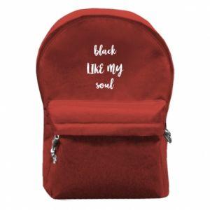 Plecak z przednią kieszenią Black like my soul