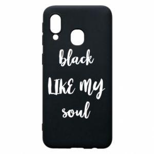 Etui na Samsung A40 Black like my soul
