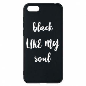 Etui na Huawei Y5 2018 Black like my soul