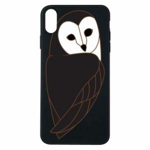 Etui na iPhone Xs Max Black owl