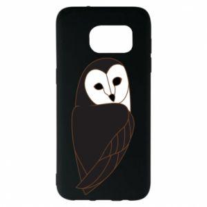 Etui na Samsung S7 EDGE Black owl