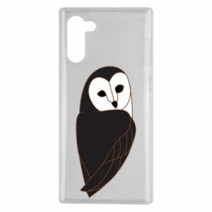 Etui na Samsung Note 10 Black owl