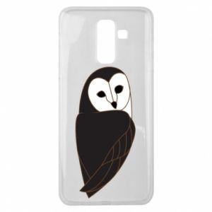 Etui na Samsung J8 2018 Black owl