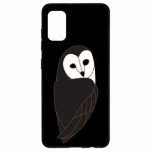 Etui na Samsung A41 Black owl