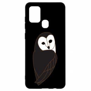 Etui na Samsung A21s Black owl