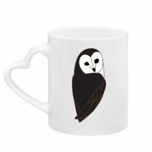Kubek z uchwytem w kształcie serca Black owl