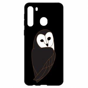 Etui na Samsung A21 Black owl