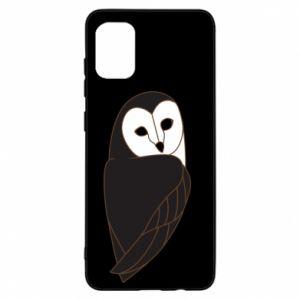 Etui na Samsung A31 Black owl