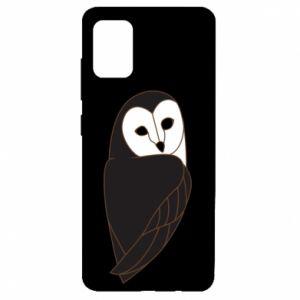Etui na Samsung A51 Black owl