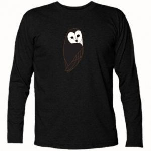 Long Sleeve T-shirt Black owl - PrintSalon
