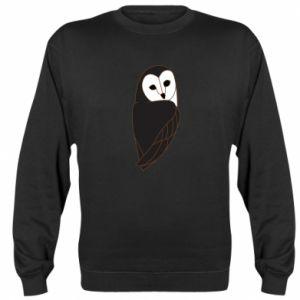 Sweatshirt Black owl - PrintSalon