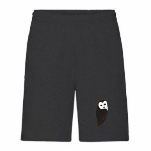 Men's shorts Black owl - PrintSalon