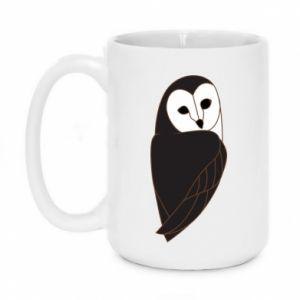 Mug 450ml Black owl - PrintSalon
