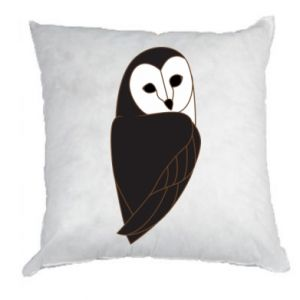 Pillow Black owl - PrintSalon