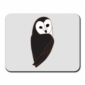 Mouse pad Black owl - PrintSalon