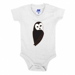 Baby bodysuit Black owl - PrintSalon