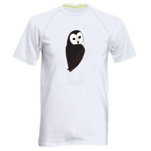 Men's sports t-shirt Black owl - PrintSalon