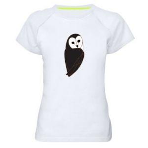 Women's sports t-shirt Black owl - PrintSalon