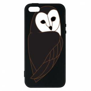 Phone case for iPhone 5/5S/SE Black owl - PrintSalon