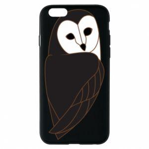 Phone case for iPhone 6/6S Black owl - PrintSalon
