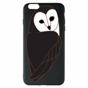 Phone case for iPhone 6 Plus/6S Plus Black owl - PrintSalon
