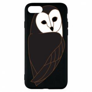 Phone case for iPhone 7 Black owl - PrintSalon