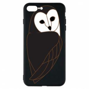 Phone case for iPhone 8 Plus Black owl - PrintSalon