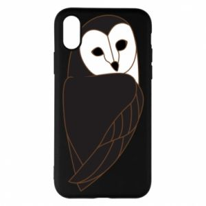 Phone case for iPhone X/Xs Black owl - PrintSalon
